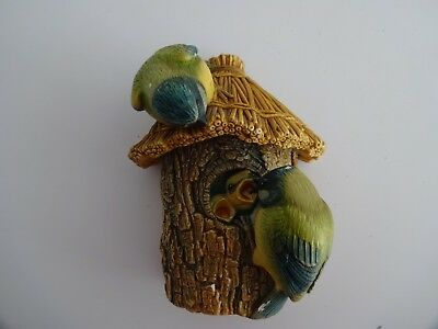 "Vintage Bossons Chalkware Figure ""Blue Tits""-5"" high-Wild Life Series"