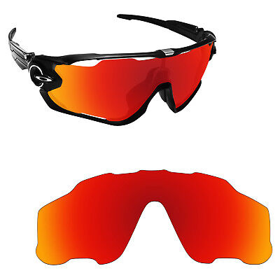 UV Protection Orange Red Replacement Lens for-Oakley Jawbreaker Sunglass Mirror