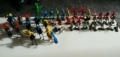 Cowboys & Indians Plastic Mixed Figures Joblot
