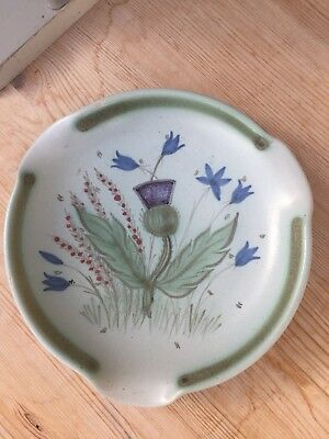 Buchan Stoneware Round Dish - Thistle Decoration