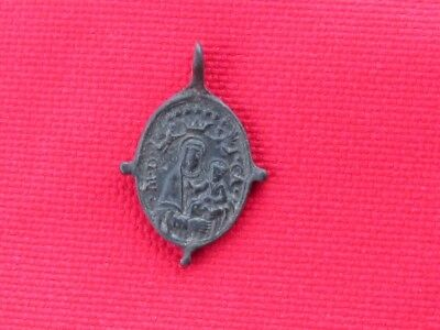 medaille religieuse a beliere inversee 16/18 s
