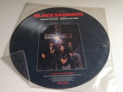"""BLACK SABBATH Turn Up The Night / Lonely Word, 12"""" picture disc, SABP612 1981 EX"""
