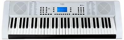 Teclado Piano Keyboard E-Piano 61 Teclas 128 Sonidos & Ritmos Atril Usb Aux Mp3