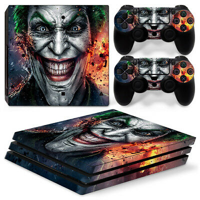 FOR Sony PlayStation 4 PRO ( PS4 PRO) JOKER Vinyl Skin Sticker Set