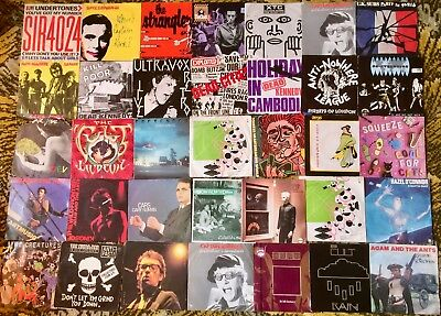 Fantastic collection of 250+ Punk/New Wave/ alternative singles