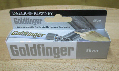 22ml (47,68 €/100ml) GOLDFINGER METALL-PASTE SILBER METALLBRONZE SILVER
