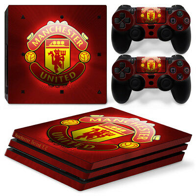 Manchester United FC Sony PlayStation 4 PRO ( PS4 PRO) Vinyl Skin Sticker Set