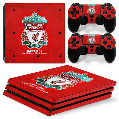 Liverpool Sony PlayStation 4 PRO ( PS4 PRO) Vinyl Skin Sticker Set