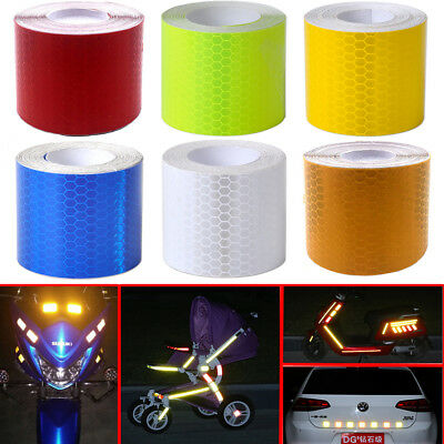 "2""X10' 3M Reflective Safety Warning Conspicuity Tape Film Sticker Car Motor Bike"