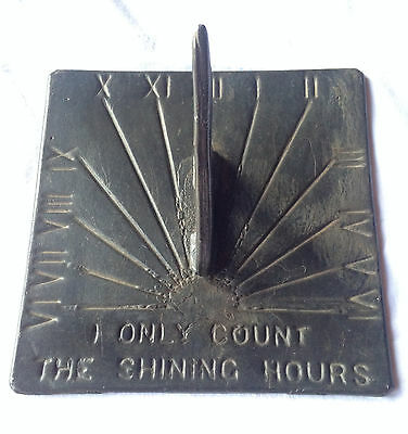 """Heavy  Sundial 3.5kg  """" I only count the shining hours"""""""