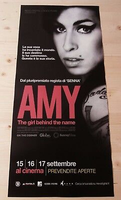 AMY THE GIRL BEHIND THE NAME Original Event Movie Poster 33x70 / 12x27