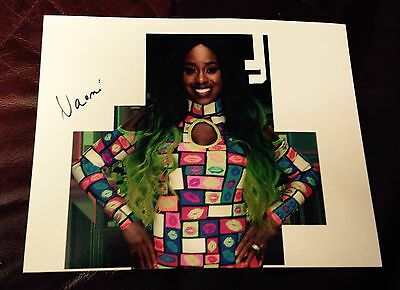 wwe naomi signed autographed 8x10 photo with proof smackdown womens champion!!