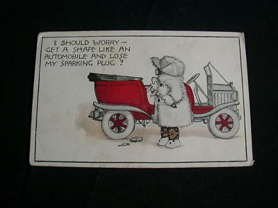 vintage 1914 postcard with old car used t p & co new york