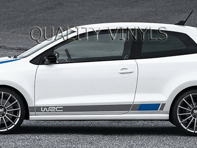 Vw polo wrc side racing stripes graphic decal stickers rs166 volkswagen