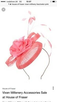 Vixen Millinery Pink Feathered Fascinator