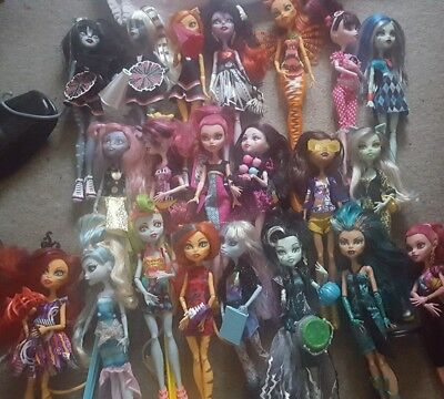 job lot monster high dolls very good condition