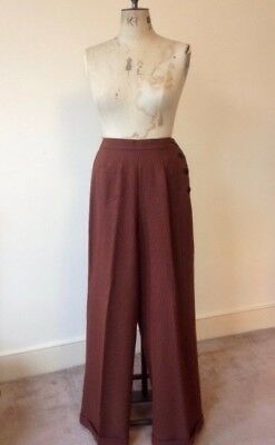 Vivien of Holloway 1940s style checked swing trousers vintage slacks pinup WWII