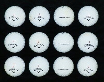 12 ***** PEARL/A***** Callaway CHROME SOFT/SOFT X Golf Balls * NOT lake balls *