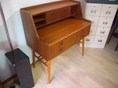 schreibtisch teak skandinavisches design mid century. Black Bedroom Furniture Sets. Home Design Ideas