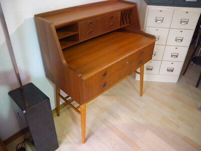 schreibtisch teak skandinavisches design mid century eur. Black Bedroom Furniture Sets. Home Design Ideas