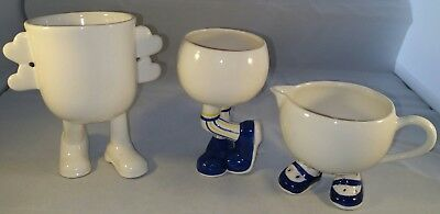 Three Carlton Ware Walking Ware Items, Jug, Bowl And Valentine's Day Cup