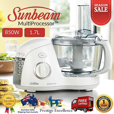 Sunbeam 850W MultiProcessor Food Processors Dough Whisk Chopping Mincing Slicing