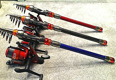 Package Holiday Fishing Rod & Reel Travel Rod Flight Approved Fits In Suitcase