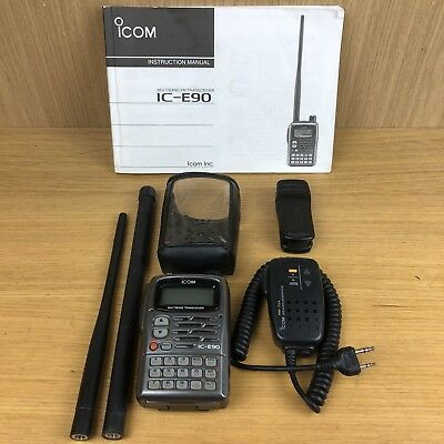 Icom IC-E90 Quad band TX, Wide band RX Transceiver 2m 4m 6m 70cm TX With Aerials