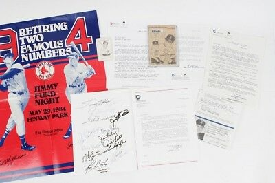 Red Sox - Jimmy Fund Collection Incl. Program Signed-Ted Williams etc. - JSA