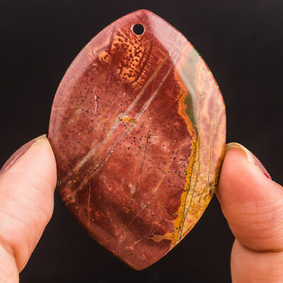 54x27x6mm Natural Red Picasso Jasper Marquise Pendant Bead Stone 71006031