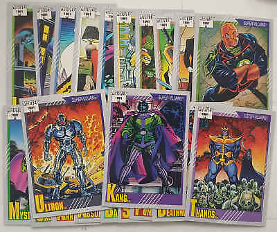 SUPER-VILLAINS MARVEL - set 20 trading cards