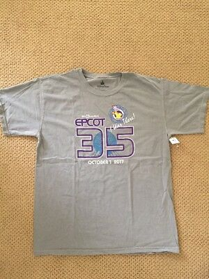 Disney EPCOT 35th Anniversary Limited Edition Passholder T-shirt Large