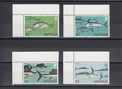 Timbre Stamp  4  Ile Antigua Y&t#547-50 Poisson Fish Neuf**/mnh-Mint 1979 ~A57
