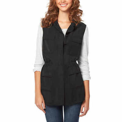 NEW Buffalo David Bitton Ladies' Lightweight Vest - BLACK XS X SMALL FAST SHIP