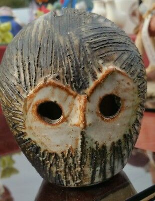 Lovely Vintage Briglin Art Studio Pottery Owl Money Box Moneybox