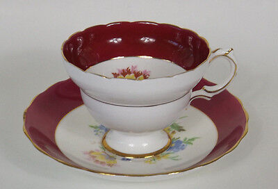 Rosina Bone China  Tea Cup And Saucer Vintage