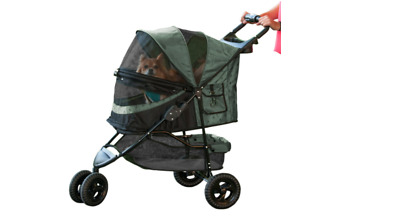 Pet Gear  No-Zip Special Edition Pet Stroller, Cat Dog Pram, Sage Green