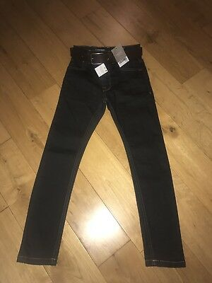 Boys Next Skinny Jeans Trousers With Belt Age 7 BNWT