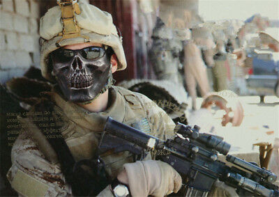 Outdoor army M02 skeleton warrior mask half face to protect the horror mask