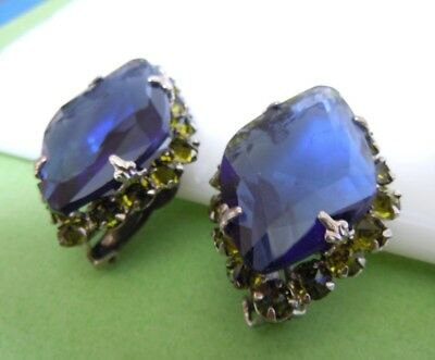 Gorgeous Vintage Signed SCHREINER NEW YORK Statement Clip Earrings