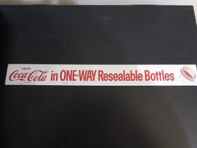 Vintage Coca Cola Door Push Pull Metal Bar Advertising Sign 18 Inches Long
