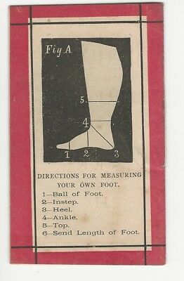 Bixby Shoes Rhyme of the Rail Booklet Foot Measurement John G. Saxe Silhouettes