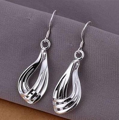 Gift wholesale fashion Jewelry Solid 925 Silver Pendant Earrings