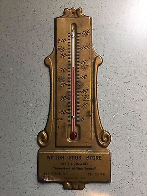 Antique Vtg Wilton Food Grocery Store Advertising Salesman Sample Thermometer