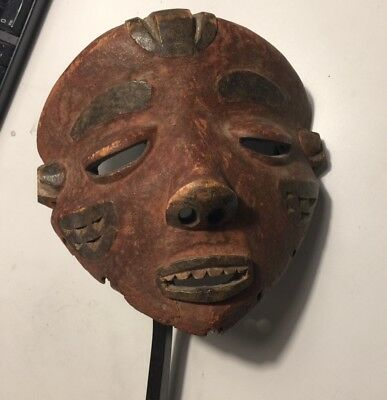 Estate find *AMAZING Antique Tribal African Pende Mbuya Mask / Congo. NR!