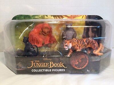 Disney The Jungle Book Collectible Figures 5 Pack Set - New Baloo Mowgli