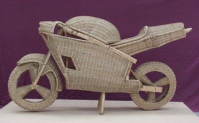 Bike Wovan Cane Display Collectible Handmade  New Showpiece  Life size