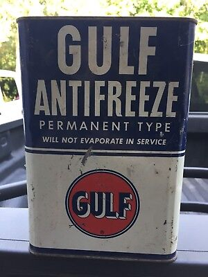 Vintage Gulf Antifreeze One Gallon Can