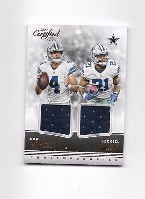 Dak Prescott Ezekiel Elliott 2017 Certified Cuts Contemporaries Jersey - Cowboys