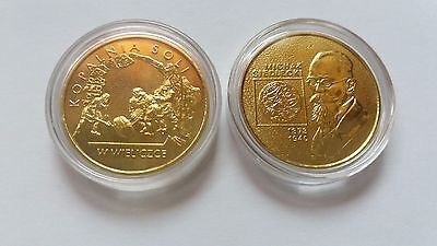 Set of 2 Polish commemorative coins dated 2001